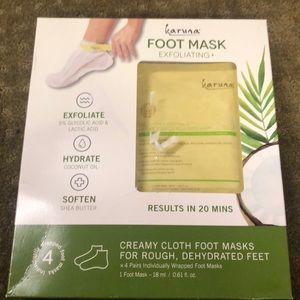 Karuna exfoliating foot mask paraben and dye free